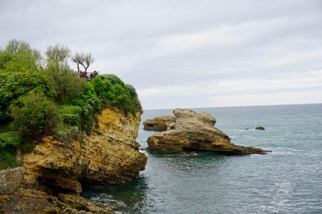 rocher plage biarritz