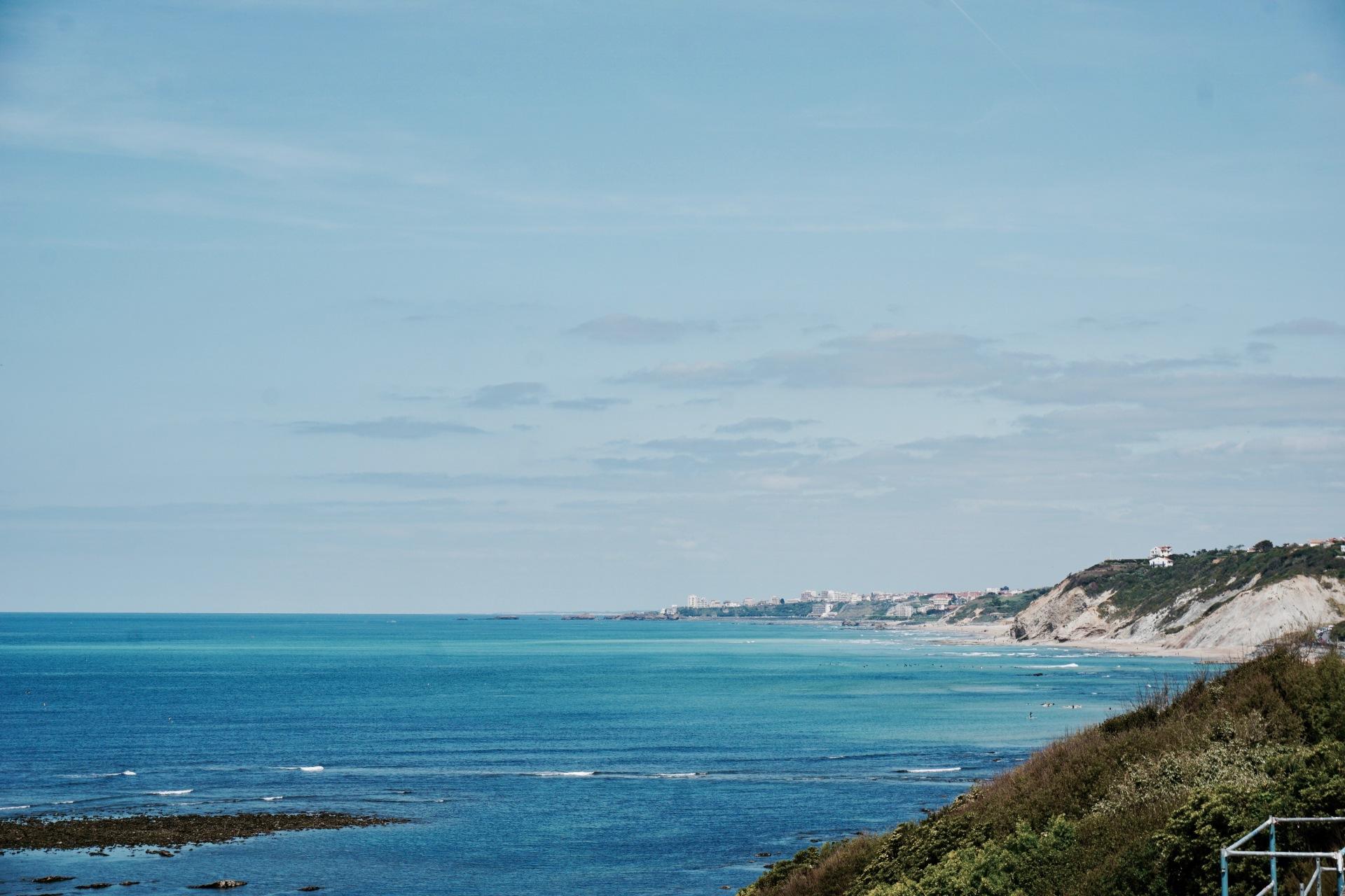 vue pays basque ocean guethary